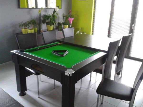 table manger billard. Black Bedroom Furniture Sets. Home Design Ideas